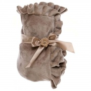 PLED ROMANTIC FRILL Taupe Blanc MariClo'